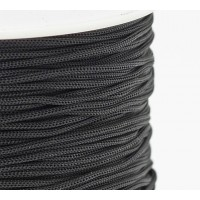0.8mm Chinese Knotting Cord, Black, 120 Meter Spool