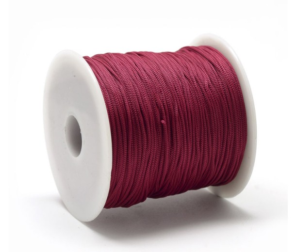 0.8mm Chinese Knotting Cord, Berry Red, 120 Meter Spool