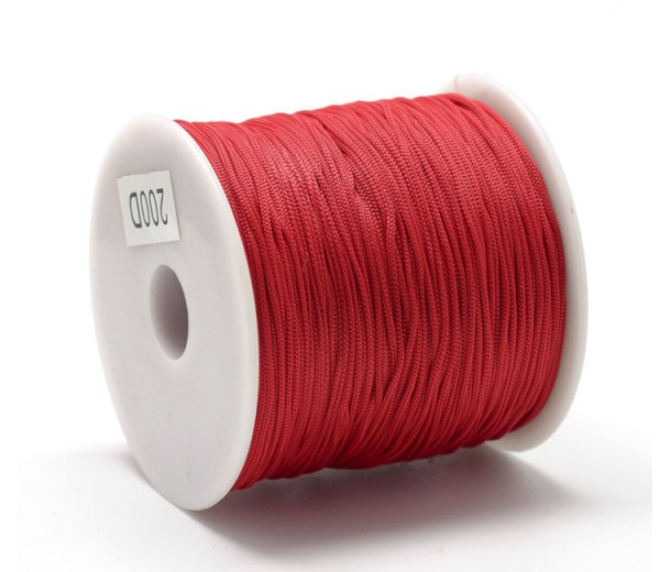 0.8mm Chinese Knotting Cord, Red, 120 Meter Spool