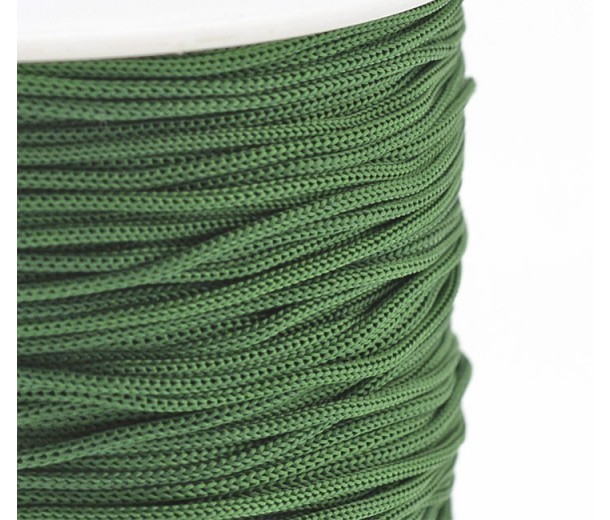 0.8mm Chinese Knotting Cord, Dark Green, 120 Meter Spool