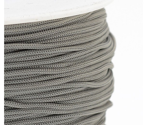 0.8mm Chinese Knotting Cord, Mouse Grey, 120 Meter Spool