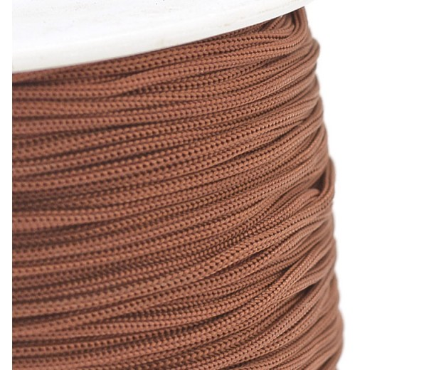 0.8mm Chinese Knotting Cord, Sepia Brown, 120 Meter Spool