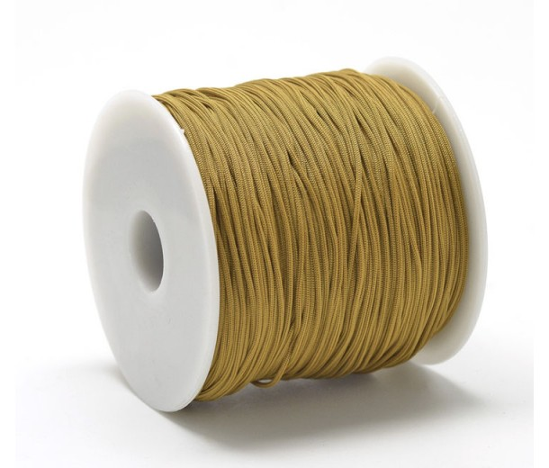 0.8mm Chinese Knotting Cord, Yellow Brown, 120 Meter Spool