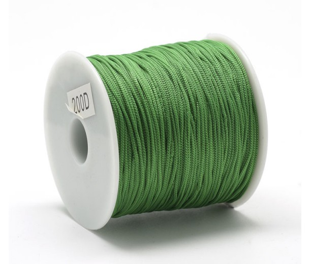 0.8mm Chinese Knotting Cord, Kelly Green, 120 Meter Spool