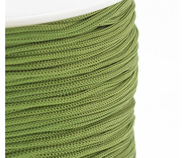 0.8mm Chinese Knotting Cord, Light Green, 120 Meter Spool