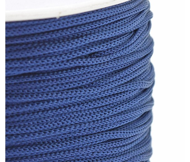 0.8mm Chinese Knotting Cord, Medium Blue, 120 Meter Spool