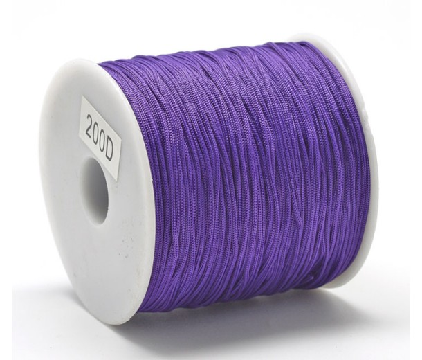 0.8mm Chinese Knotting Cord, Dark Orchid, 120 Meter Spool