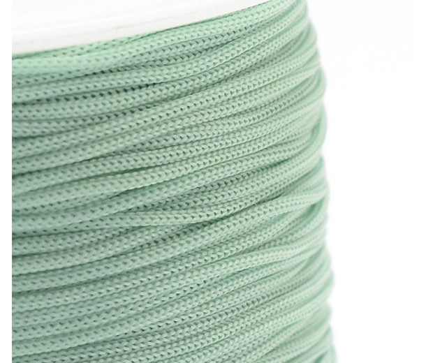 0.8mm Chinese Knotting Cord, Pale Teal Green, 120 Meter Spool