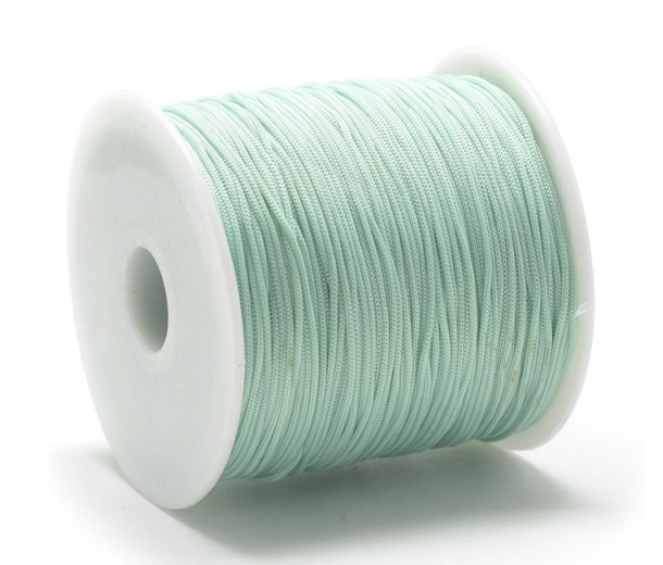 0.8mm Chinese Knotting Cord, Pale Green, 120 Meter Spool