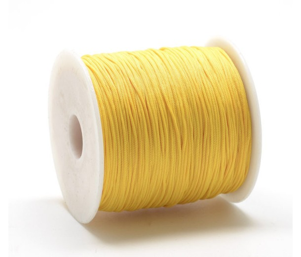 0.8mm Chinese Knotting Cord, Sun Yellow, 120 Meter Spool