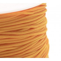 0.8mm Chinese Knotting Cord, Citrus Orange, 120 Meter Spool