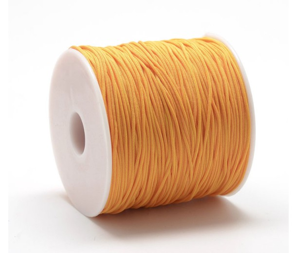 0.8mm Chinese Knotting Cord, Citrus Orange, 120 Meter Spool
