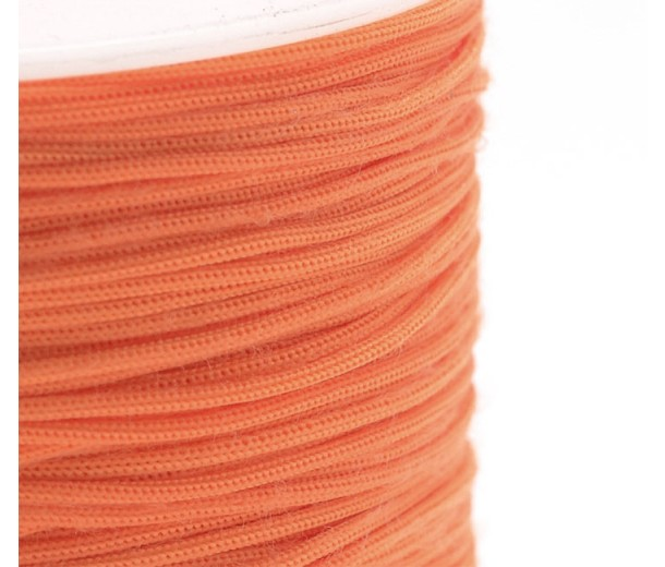 0.8mm Chinese Knotting Cord, Neon Orange, 120 Meter Spool