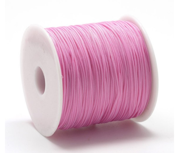 0.8mm Chinese Knotting Cord, Barbie Pink, 120 Meter Spool