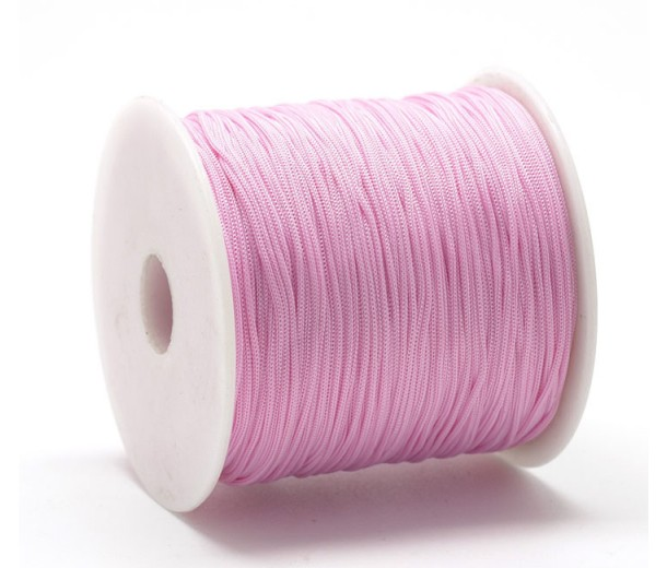 0.8mm Chinese Knotting Cord, Rose Pink, 120 Meter Spool