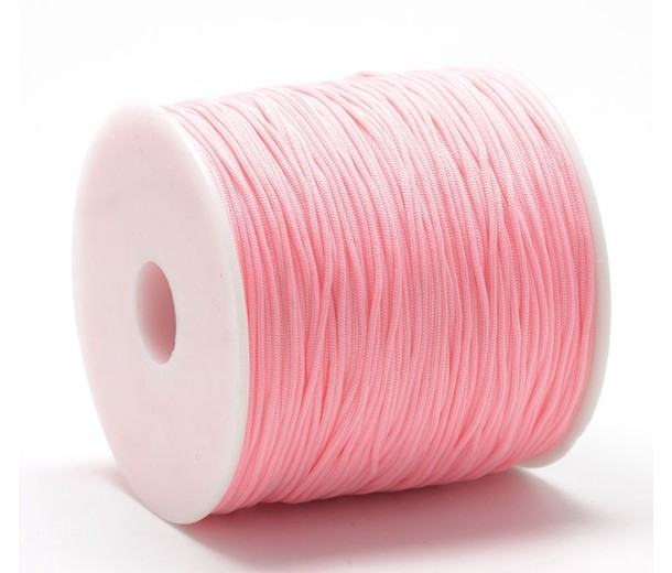 0.8mm Chinese Knotting Cord, Neon Pink, 120 Meter Spool