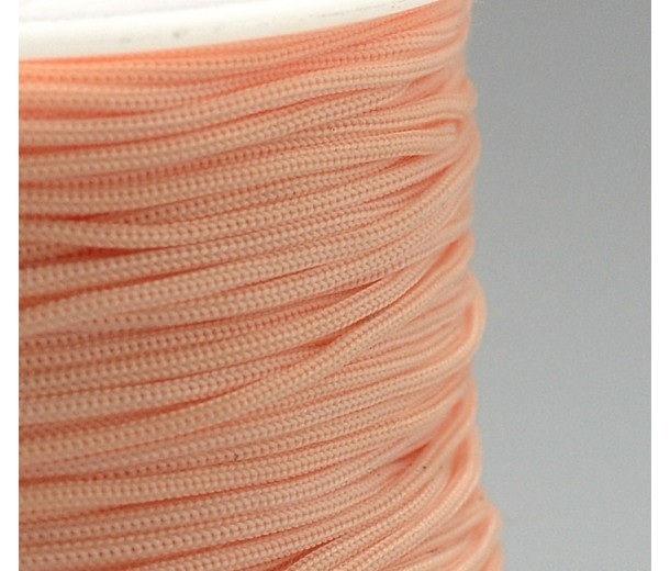 0.8mm Chinese Knotting Cord, Light Coral, 120 Meter Spool