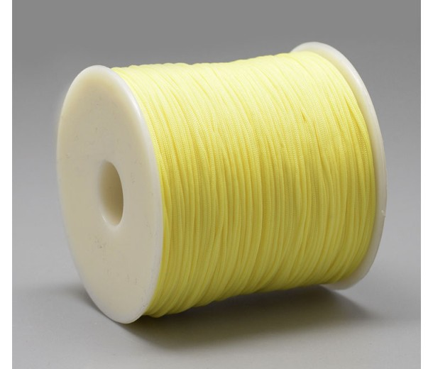 0.8mm Chinese Knotting Cord, Lemon Yellow, 120 Meter Spool