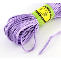 2mm Satin Rattail Cord, Light Purple, 20 Meter Bundle