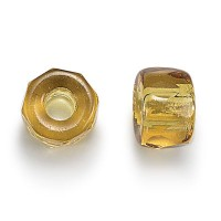 Topaz Czech Glass Beads, 9mm Faceted Pony