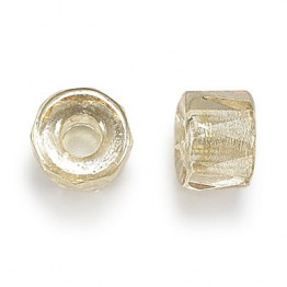 Champagne Czech Glass Beads, 9mm Faceted Pony