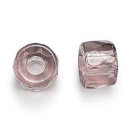 Light Amethyst Czech Glass Beads, 6mm Faceted Pony