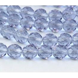 Alexandrite Czech Glass Beads, 10mm Faceted Round