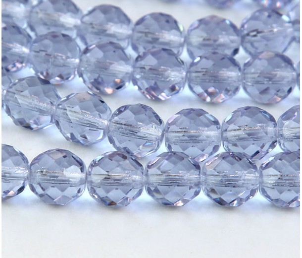Alexandrite Czech Glass Beads, 10mm Faceted Round