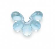Alexandrite Czech Glass Beads, 7x5mm Teardrop