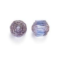 Light Sapphire Picasso Czech Glass Beads, 6mm Renaissance