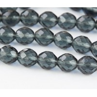 Montana Blue Czech Glass Beads, 10mm Faceted Round