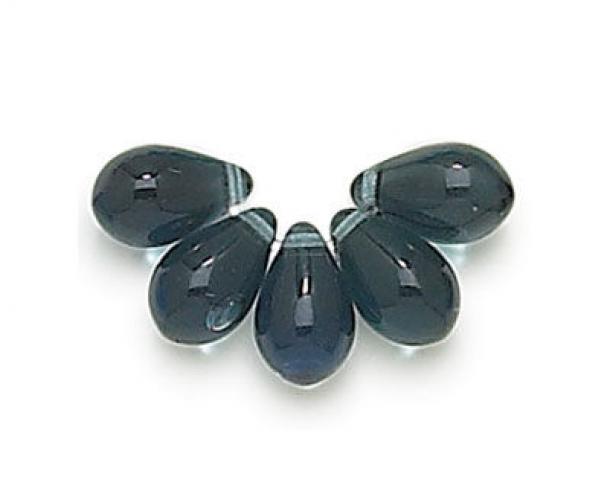 Montana Czech Glass Beads 9x6mm Teardrop Golden Age Beads