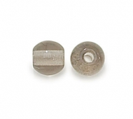 Black Diamond Czech Glass Beads, 8mm Round Large Hole