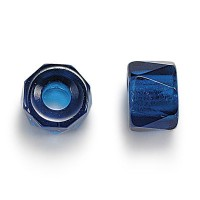 Capri Blue Czech Glass Beads, 9mm Faceted Pony