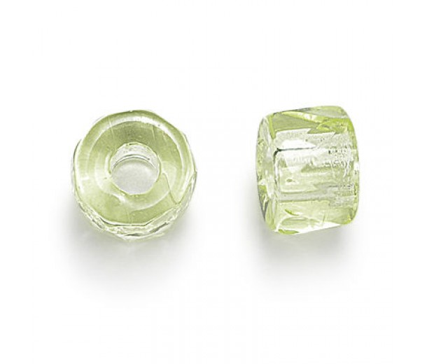 Jonquil Czech Glass Beads, 6mm Faceted Pony