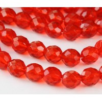 Hyacinth Czech Glass Beads, 10mm Faceted Round