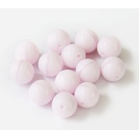 Opaque Rose Pink Czech Glass Beads, 10mm Round