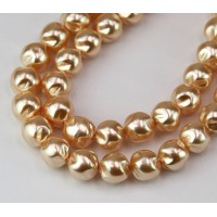Blush Pearl Czech Glass Beads, 8mm Baroque Round