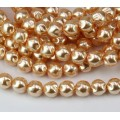 Blush Pearl Czech Glass Beads, 8mm Baroque Round, Pack of 25