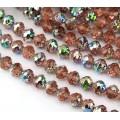 Rosaline Vitrail Czech Glass Beads, 8mm Rosebud