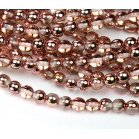 Apollo Gold Czech Glass Beads, 6mm Round