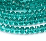 Light Teal Czech Glass Beads, 9x6mm Rondelle