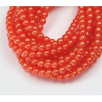 Suede Gold Hyacinth Czech Glass Beads, 4mm Round