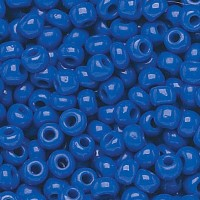 8/0 Czech Round Rocaille Seed Beads, Opaque Royal Blue, 20 Gram Bag
