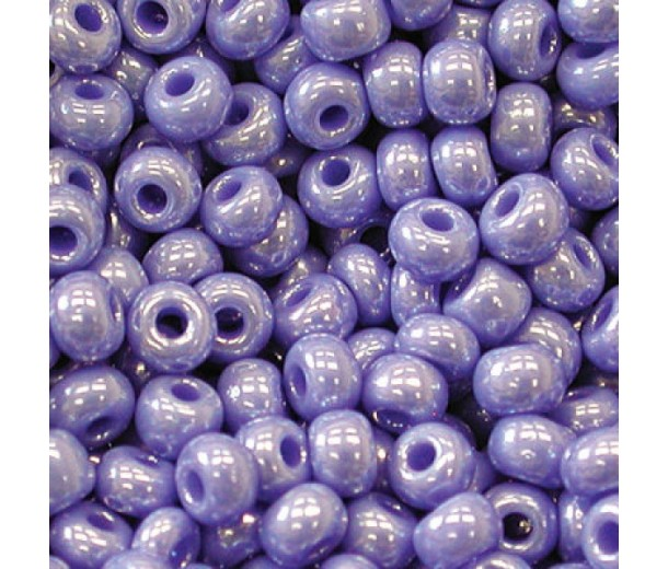 8/0 Czech Round Rocaille Seed Beads, French Purple Luster, Sold by 74 Gram Hank