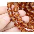 Topaz Brown Picasso Czech Glass Beads, 8mm Renaissance