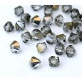 Valentinite Czech Crystal Beads by Preciosa, 4mm Faceted Bicone, Pack of 30