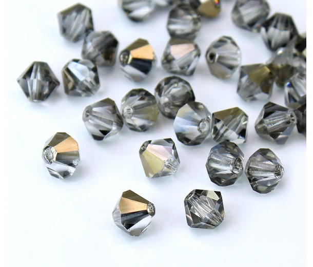 Crystal Valentinite Czech Crystal Beads, 6mm Faceted Bicone