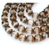 Crystal Picasso Czech Glass Beads, 10mm Renaissance