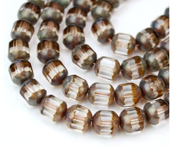 Crystal Picasso Czech Glass Beads, 10mm Renaissance